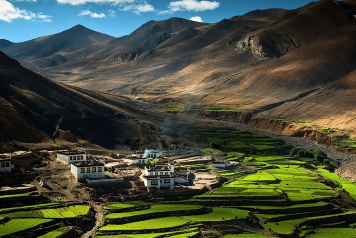 Village in the Himalayas, Tibet