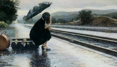 odlazak, peron