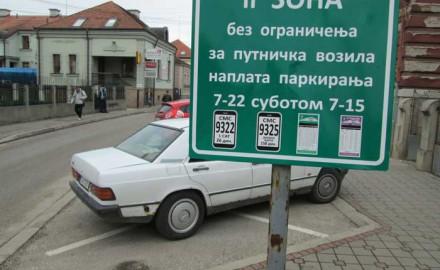 parking čačak