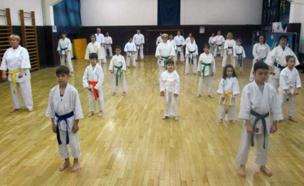 trening, karatisti, KK Nemanja
