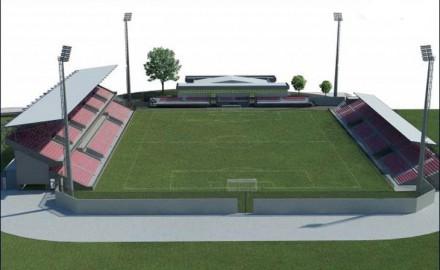 novi stadion, čačak, projekat