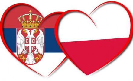 Poljska i Srbija zastave