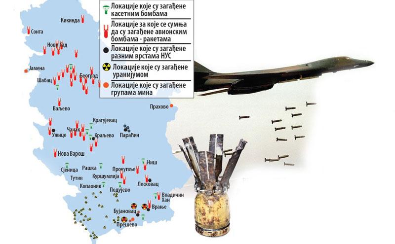 mapa bombe