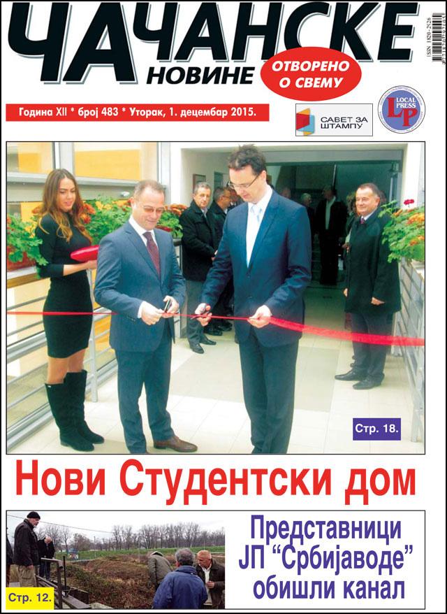 Čačanske novine 483, novi broj