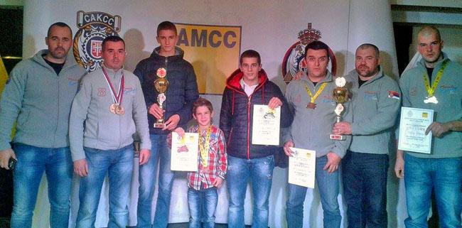 Takmičari čačanskih moto klubova Mančula, Termorad ANSK Čačak i Tanasko Rajić