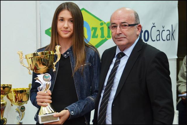 Natalija Popović i zamenik gradonačelnika Radenko Luković