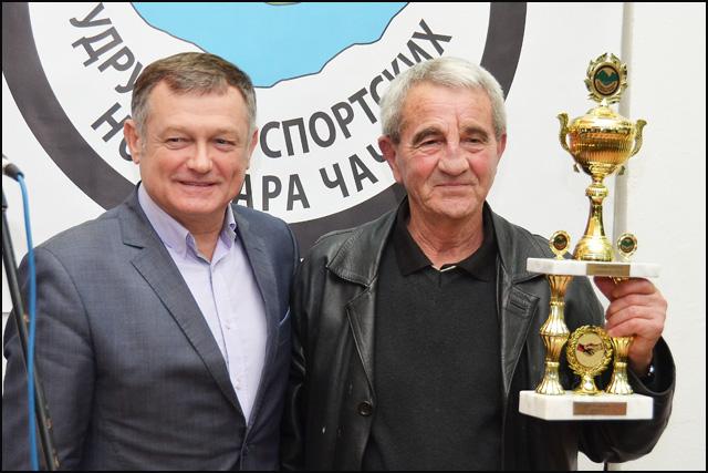 Predsednik Skupštine grada Veljko Negovanović i Dušan Radonjić Ćuka