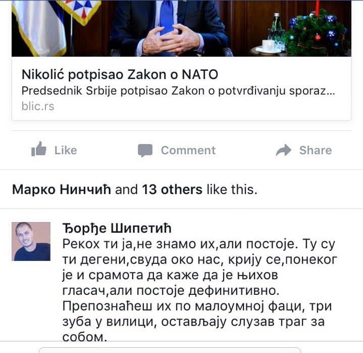 Odbornik Dveri uvredio glasače SNS