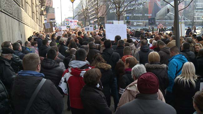 Protest korisnika kredita u švajcarcima