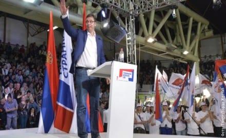 Aleksandar Vucic na mitingu
