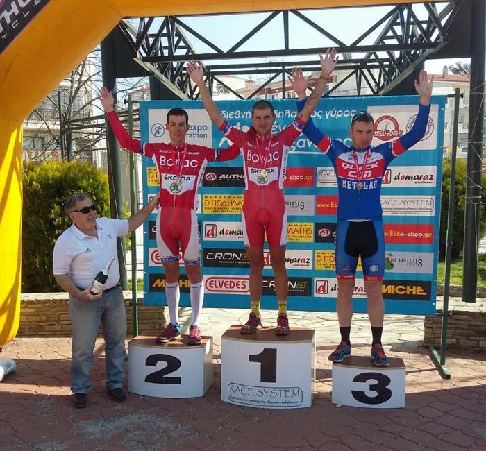 Stefanovic i Danilovic na postolju posle trece etape