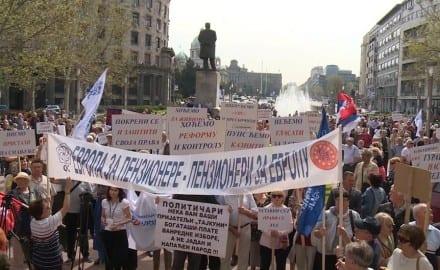 protest penzionera