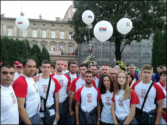 Srpski tim na otvaranju Svetskog prvenstva