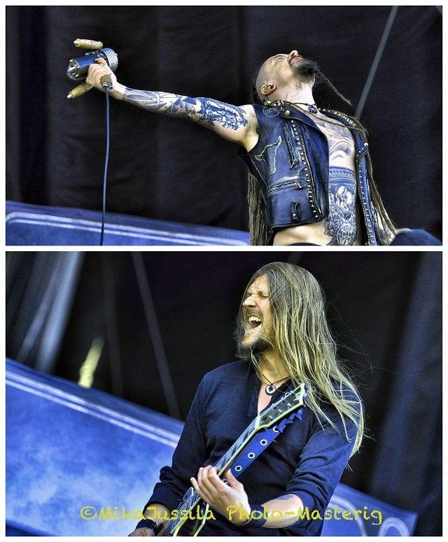 Amorphis - Tomi Joutsen & Esa Holopainen (photo by Mika Jussila)