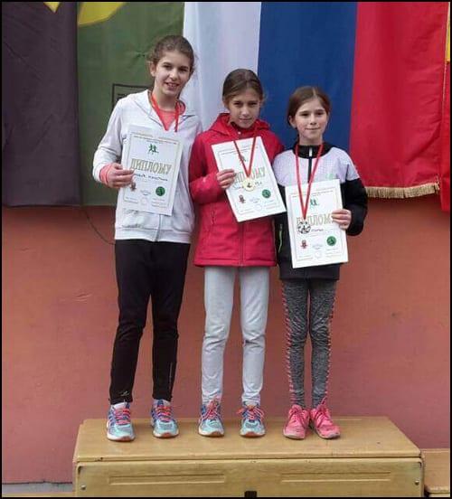 Đurđa Đokić 1. mesto, Kristina Đurović 3. mesto