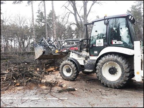 drvoseče-traktor