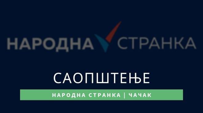 Narodna stranka saopštenje