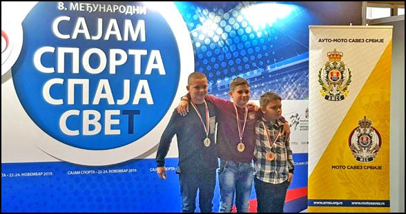 Najnolji u klasi MX65 s leva na desno danilo Crnjanski Aleksa Milosavljevic i Luka Lazovic