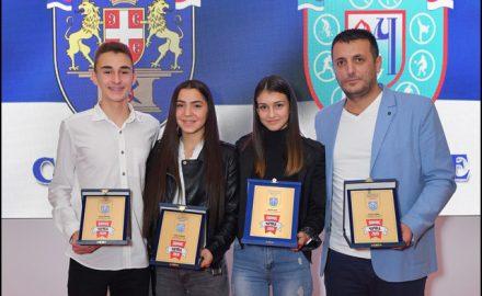 Najuspešniji-sportisti-u-svojim-kategorijama-Ognjen-Nikolić,-Sanja-Đoković,-Ivana-Ilić-i-Srđan-Jović