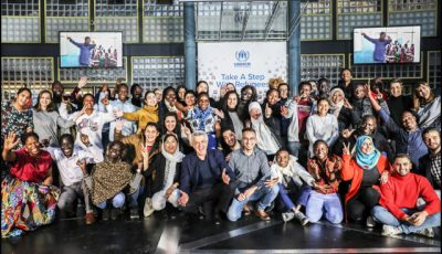 UN-High-Commissioner-for-Refugees-Filippo-Grandi-meets-a-group-of-refugees-attending-the-Global-Refugee-Forum-in-Geneva
