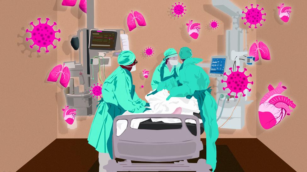 Illustration: hospital bed