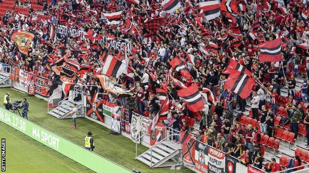 Tribina na stadionu u Budimpešti