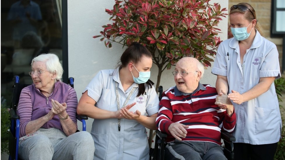 care home staff and residents