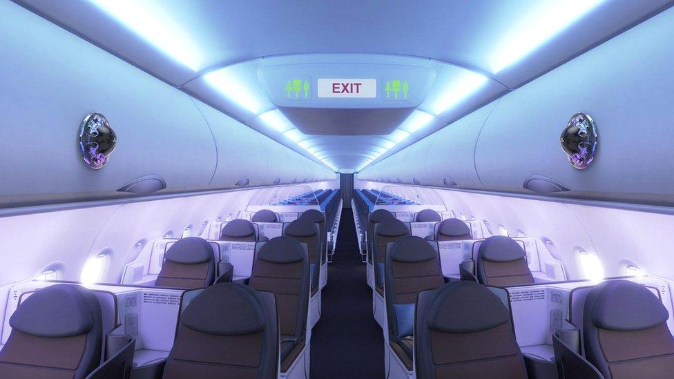 Unutrašnjost aviona