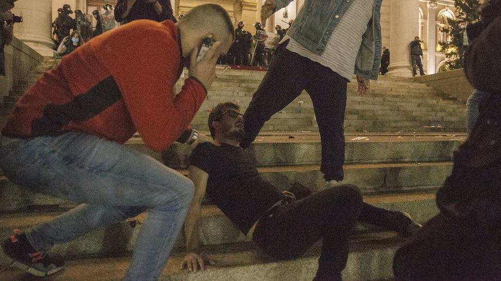 Policija je koristila suzavac kako bi rasterala demonstrante