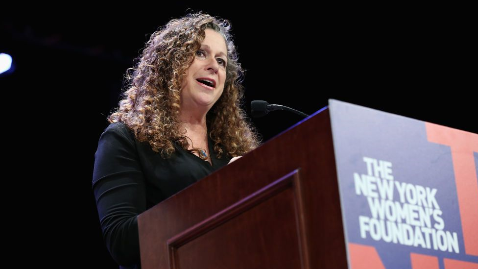 Abigail Disney at a speaking engagement