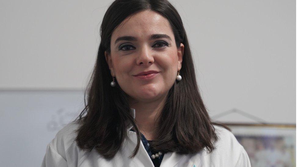 Dunja Aksentijević na Univerzitetu Kvin Meri u Londonu, januar 2020.