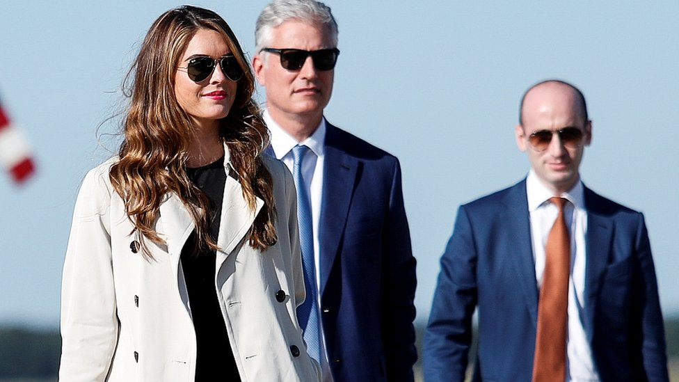 Hope Hicks travels with other White House aides in September 2020