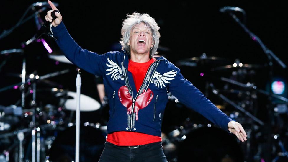 Jon Bon Jovi on stage in Rio in 2019