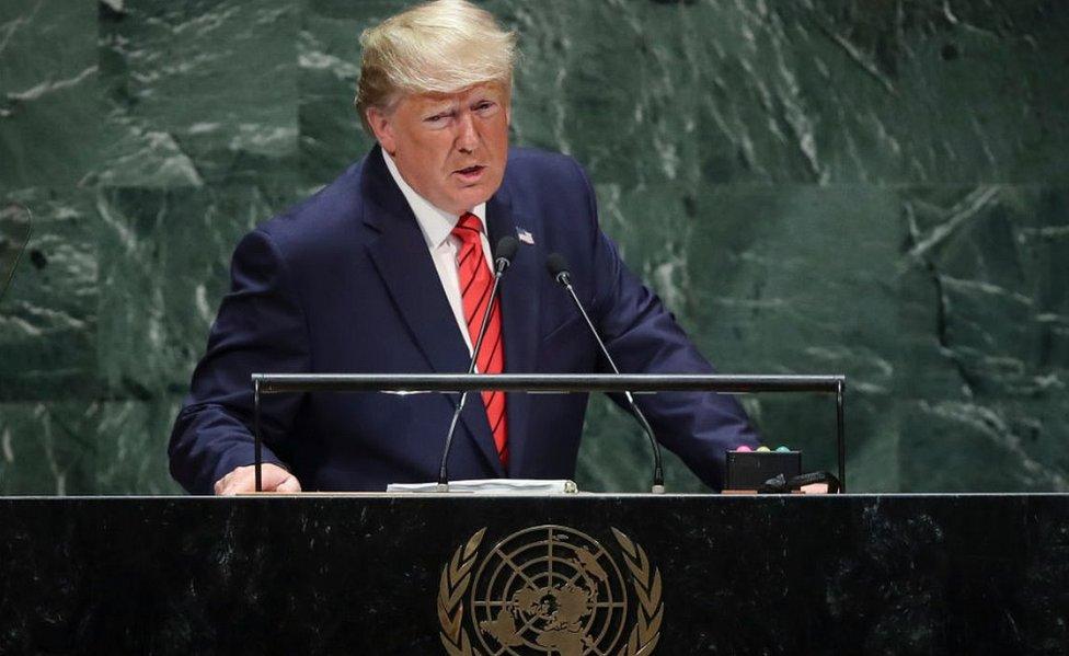 President Trump addressing UN, 24 Sep 2019