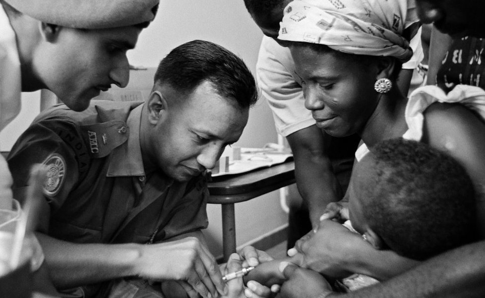 UN launches BCG vaccination in Congo, 1962