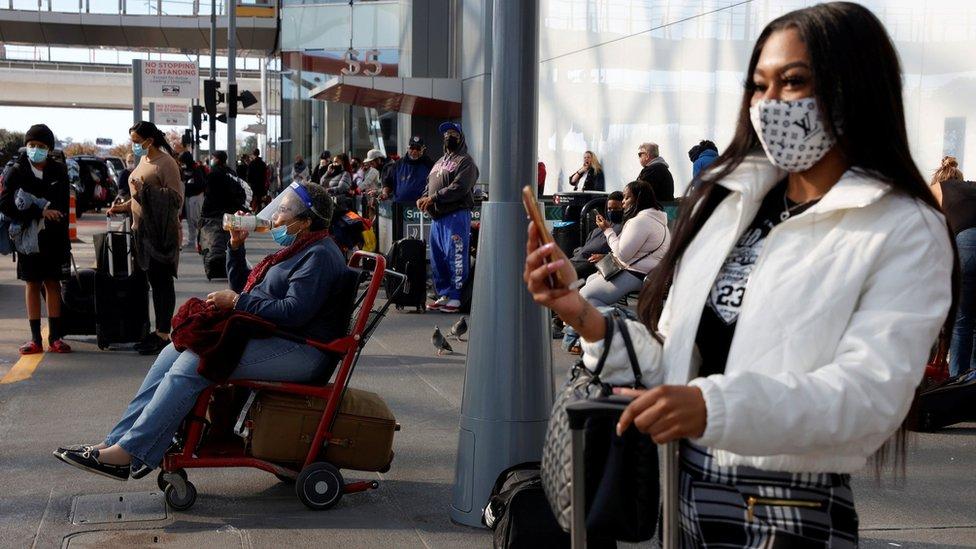 Passengers at Atlanta airport