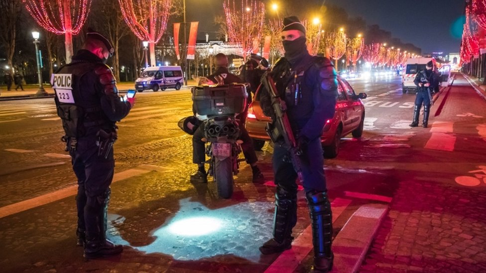 French police check motorists' documents in central Paris