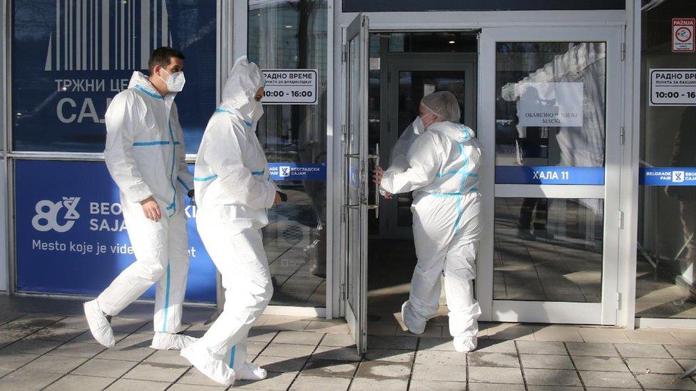 Punkt za vakcinaciju u Beogradu