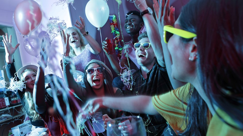 Stock image of house party