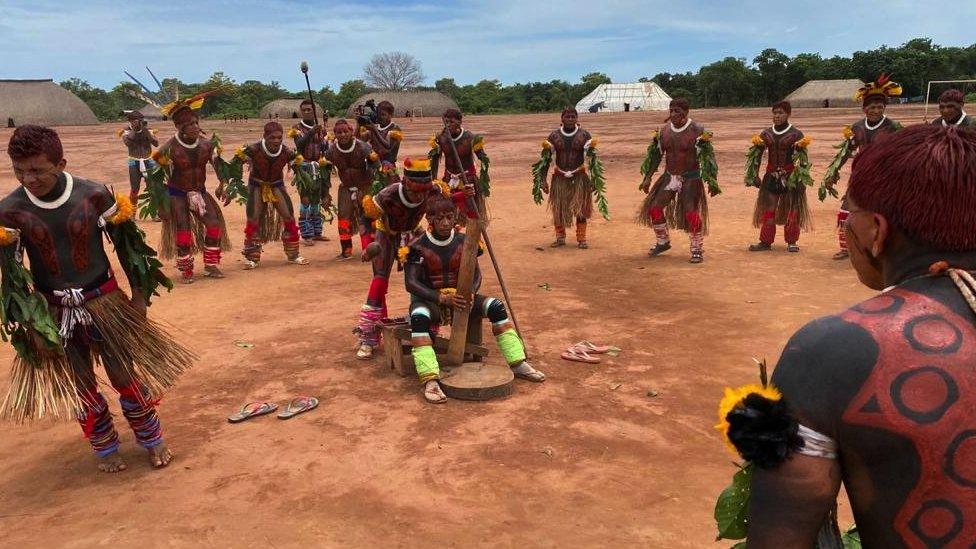 A Kuikuro celebration to mark the success against the coronavirus