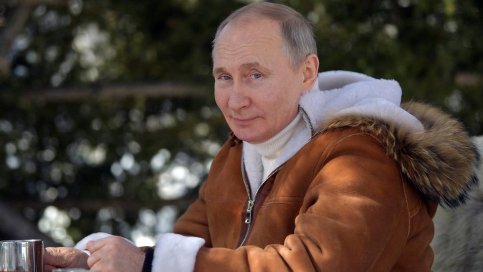 Russian President Vladimir Putin spends his leisure time in the Siberian Federal District, Russia, 21 March 2021