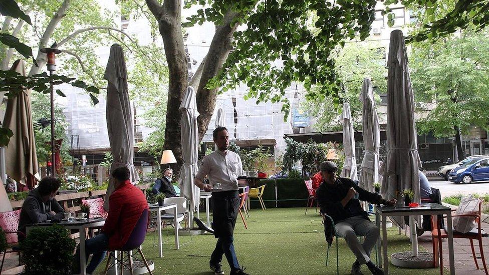 otvorene bašte kafića u Beogradu