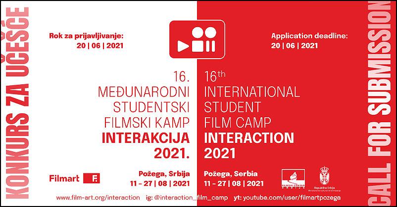 Konkurs za učešće na 16. filmskom kampu Interakcija - Ozonpress :: internet portal