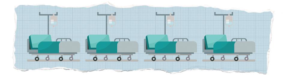 Ilustracija bolničkih kreveta