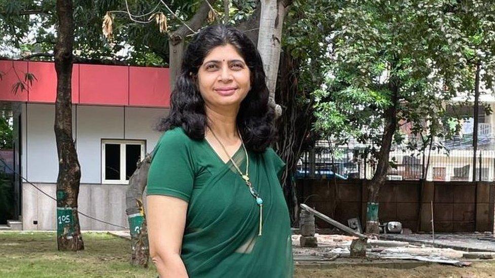 Bharti Kalra in her schcool